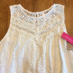 NWT Lace and Crochet Shift Dress